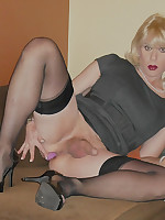 Crossdresser private part photos