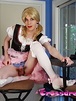 Katie Ann is a sexy blond crossdresser who just loves to service her fans