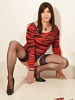 Dirty Danni is our naughty TGirl slut for today and she is showing off her cheeky side.