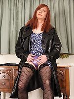 TGirl Lucimay has a lot of fun with rubber and whips and the loves to act out her favourite fetishes.