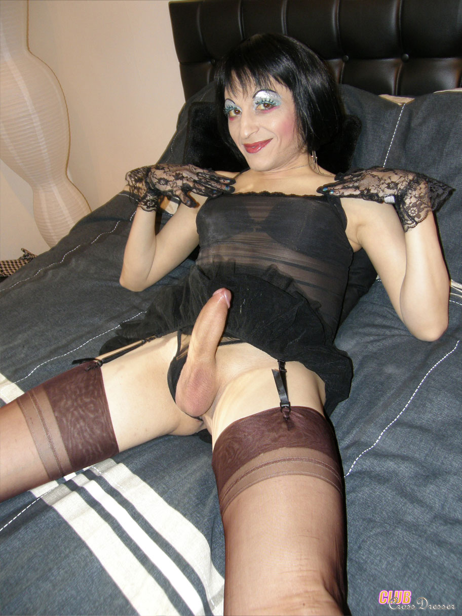 Obvious, cute nude crossdresser this rather